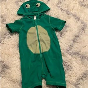 Gymboree Boys One Piece Hooded Zip Turtle Swimsuit